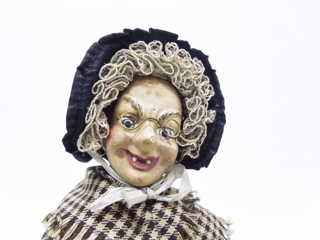 "Vintage Folk Art ""Vendor"" Doll. - 5"