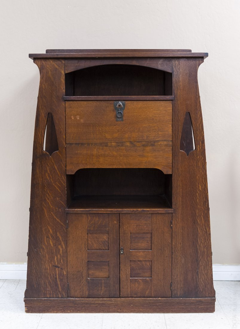 Limbert's Arts and Crafts Rare Drop Front Cabinet.