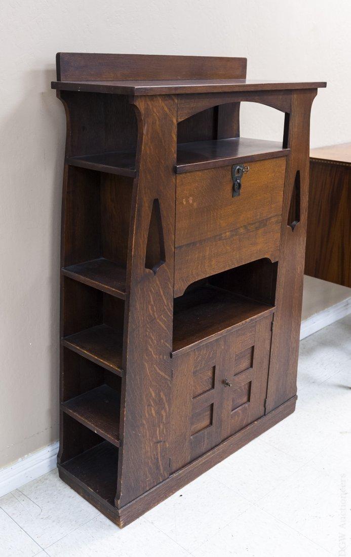 Limbert's Arts and Crafts Rare Drop Front Cabinet. - 2