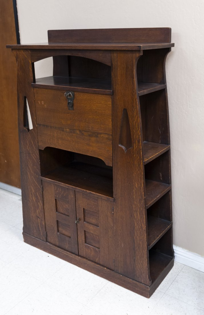 Limbert's Arts and Crafts Rare Drop Front Cabinet. - 3
