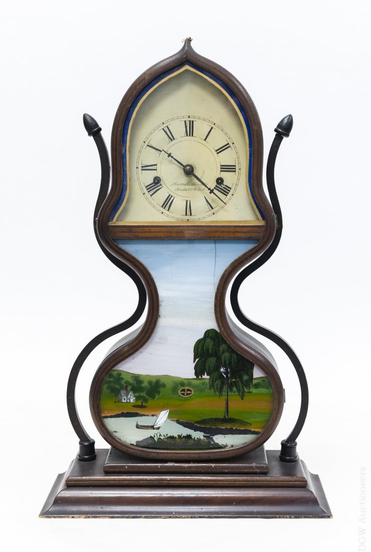 19th C. Forestville Clock Co. Acorn Shelf Clock.