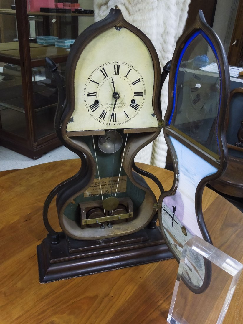 19th C. Forestville Clock Co. Acorn Shelf Clock. - 6
