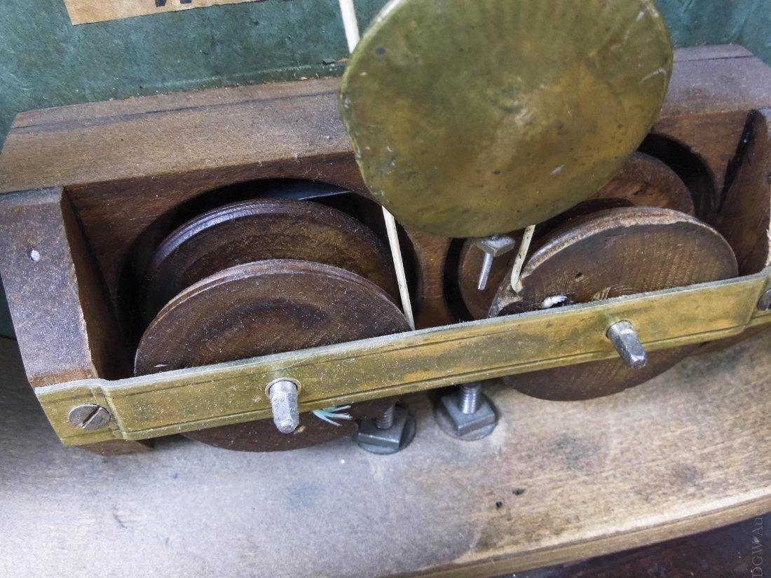 19th C. Forestville Clock Co. Acorn Shelf Clock. - 8