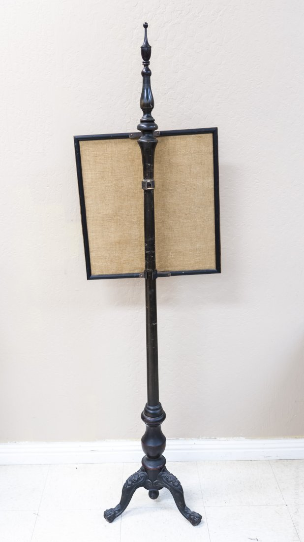 Early 20th C. Fireside Screen with Sampler. - 4