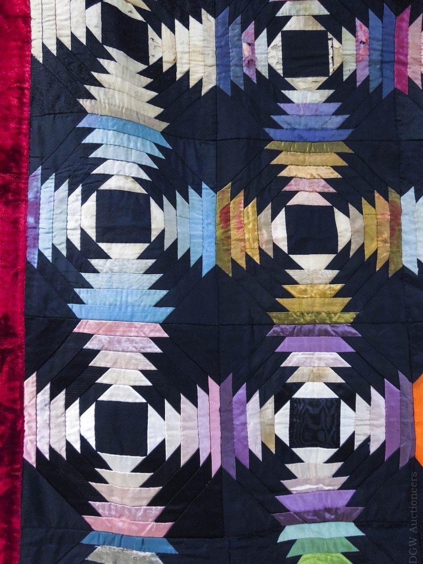 19th C. Crazy Quilt. - 5