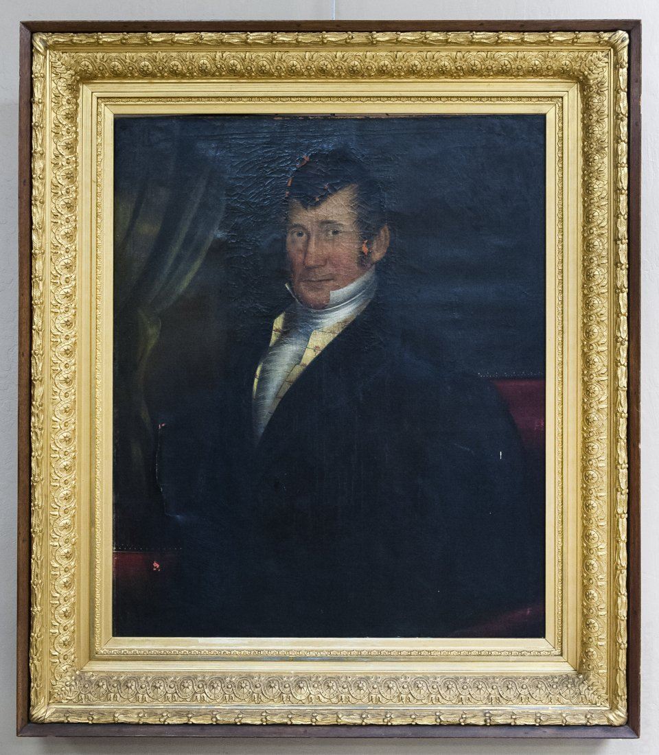 19th C. Oil on Canvas, Portrait of a Gentleman.