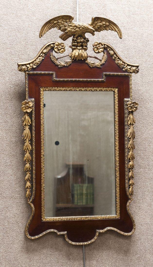 1920s Mahogany & Gilt Mirror.