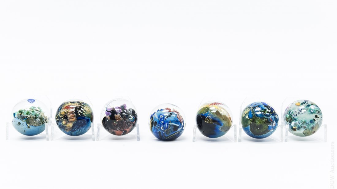 (7) Josh Simpson Megaplanet Miniature Spheres.