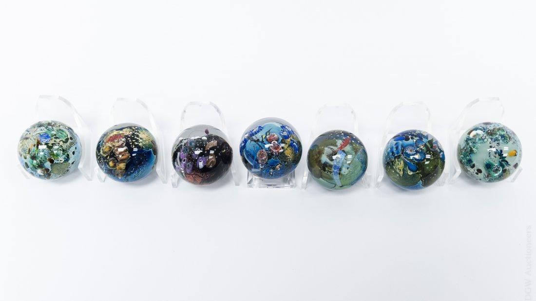 (7) Josh Simpson Megaplanet Miniature Spheres. - 5