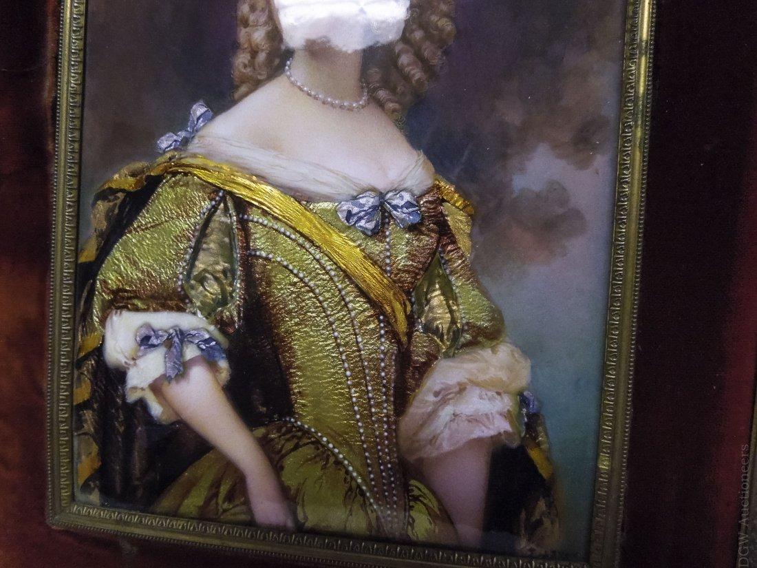 French Enameled Portrait Plaque. - 4