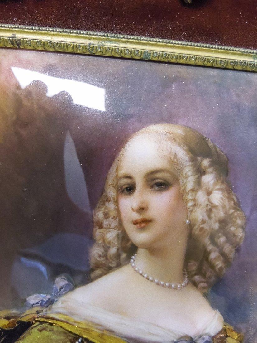 French Enameled Portrait Plaque. - 5