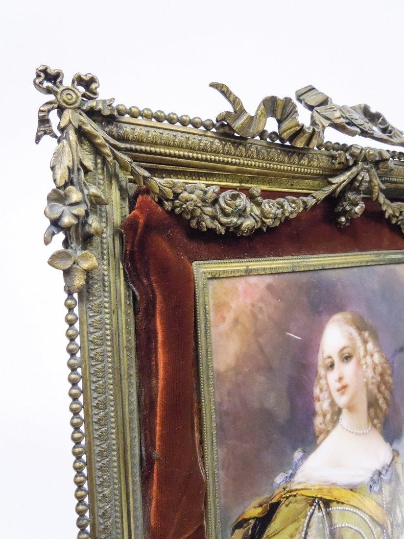 French Enameled Portrait Plaque. - 7