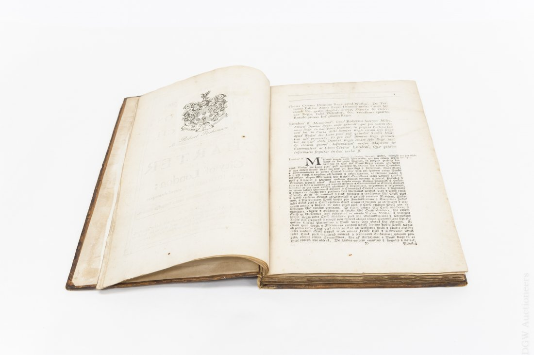 17th C. Leather Bound Volume,  Proceedings of - 5
