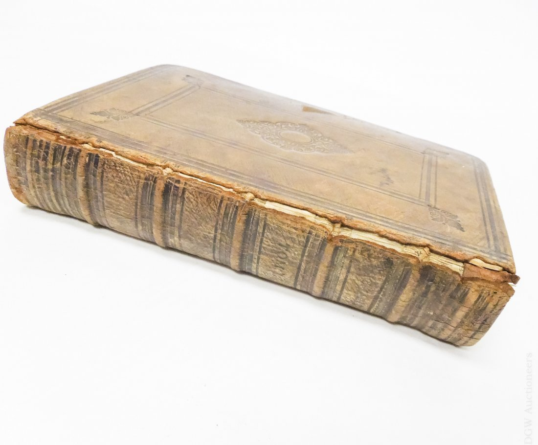 (3) Antique Leather Bound Hebrew Books. - 10