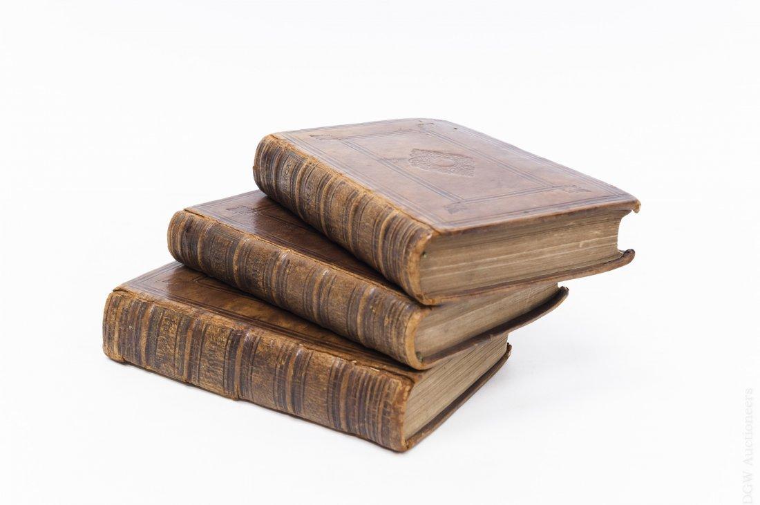 (3) Antique Leather Bound Hebrew Books.