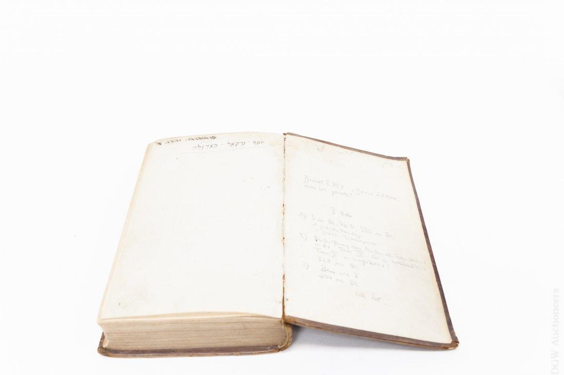(3) Antique Leather Bound Hebrew Books. - 3