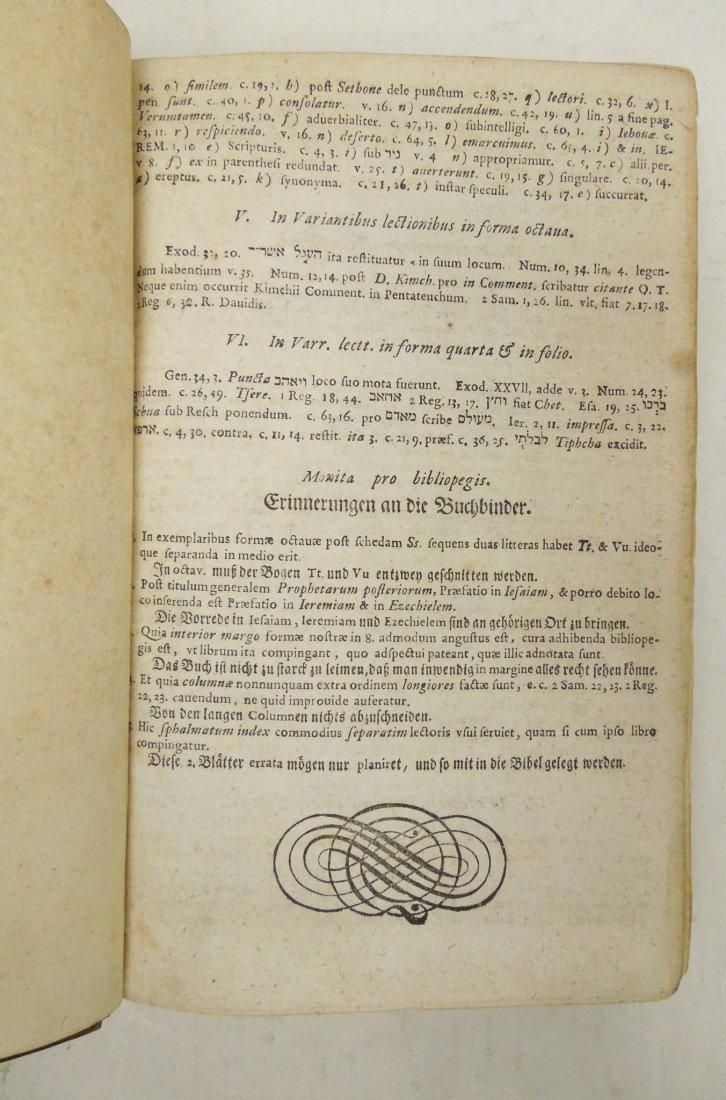 (3) Antique Leather Bound Hebrew Books. - 7