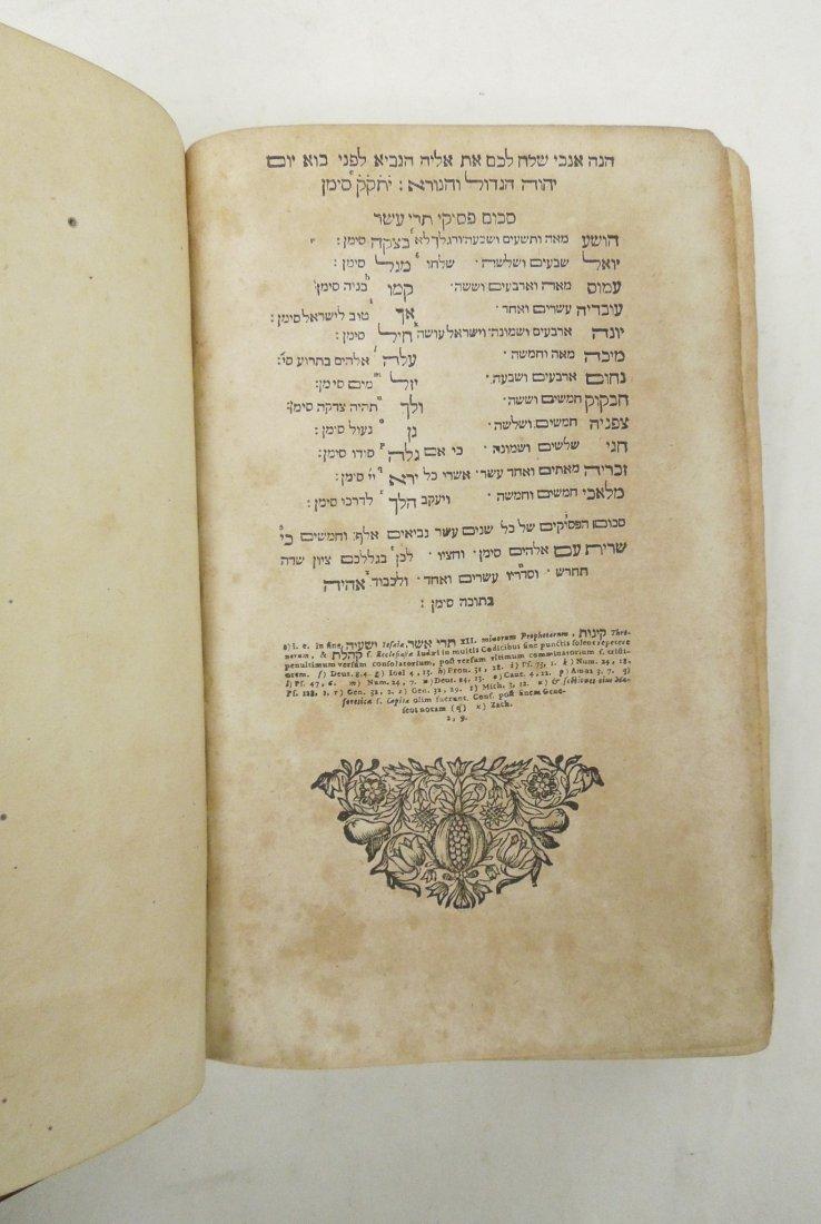 (3) Antique Leather Bound Hebrew Books. - 9