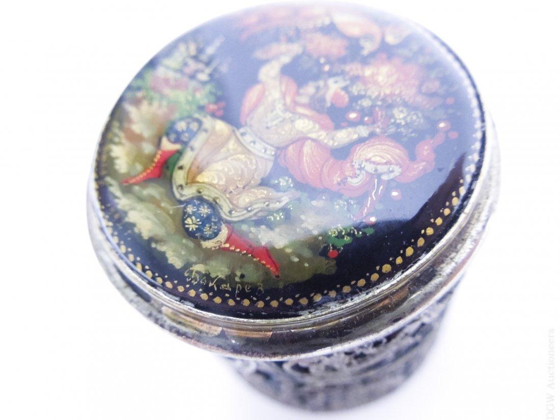 (4) Russian Miniature Filigree Boxes. - 5
