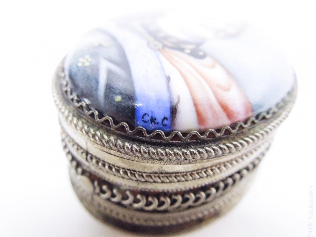 (4) Russian Miniature Filigree Boxes. - 6