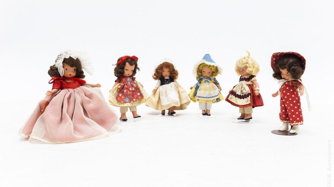 (6) Vintage Nancy Ann Storybook Dolls.