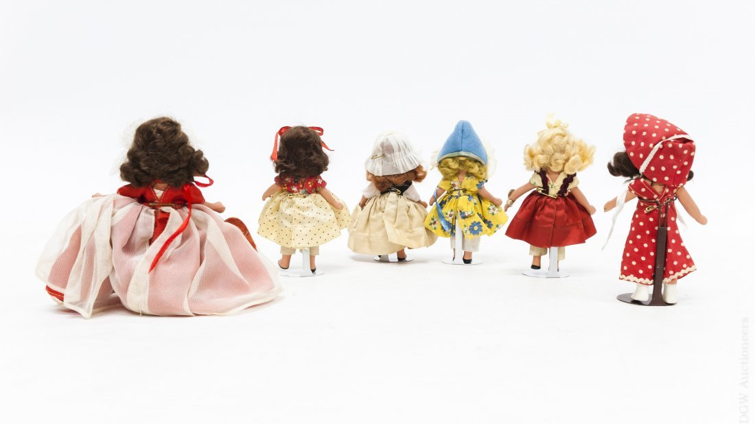 (6) Vintage Nancy Ann Storybook Dolls. - 4