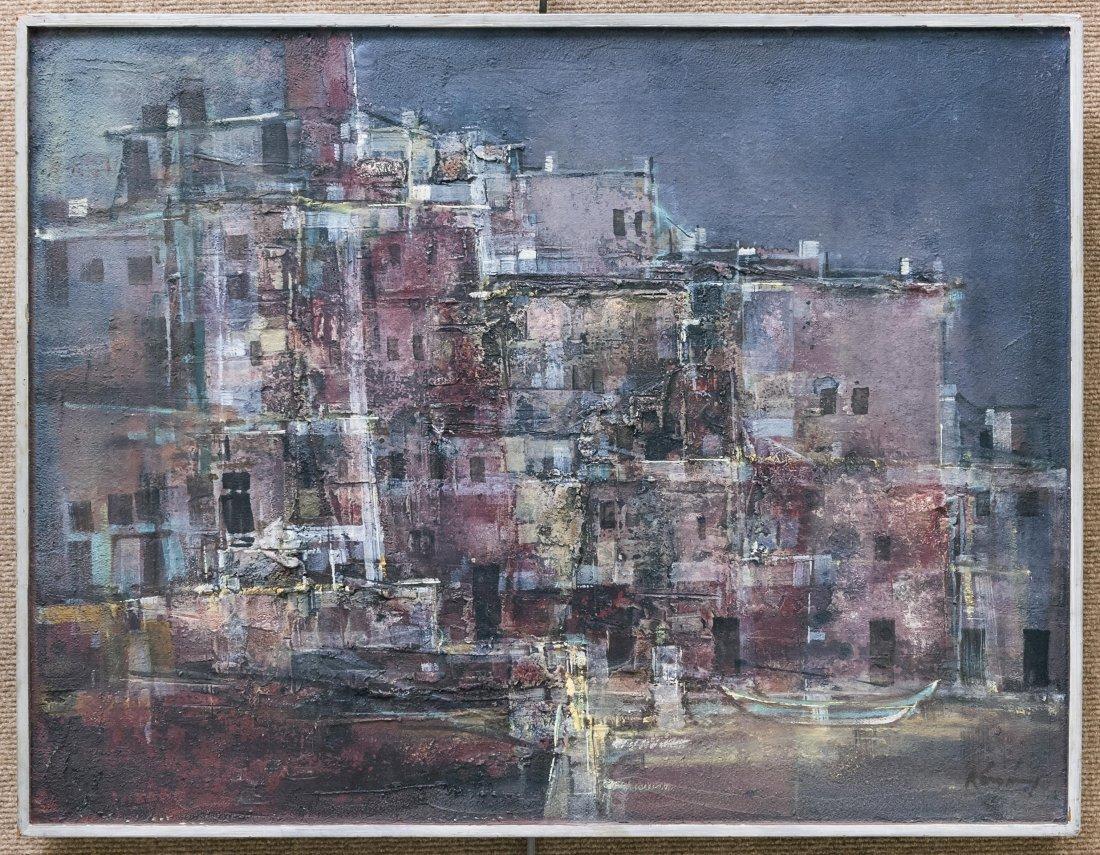 Pawel Kontny Oil on Board, Spanish Landscape.