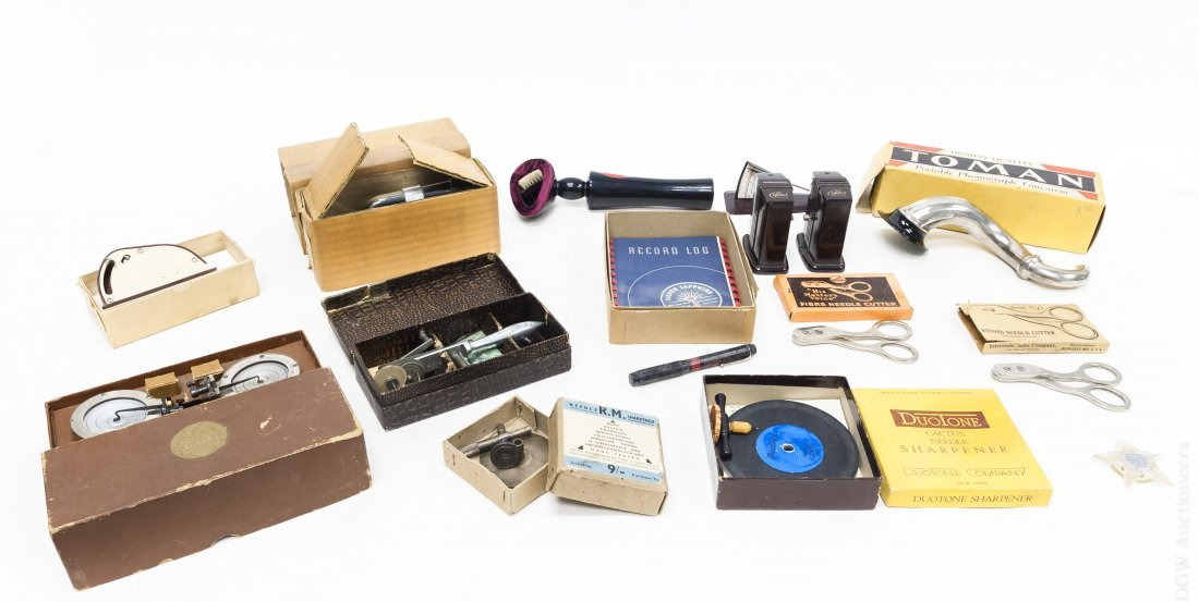 Group of Vintage Gramophone Accessories.