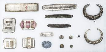 Group of Chinese Silver Ingots and Objects.