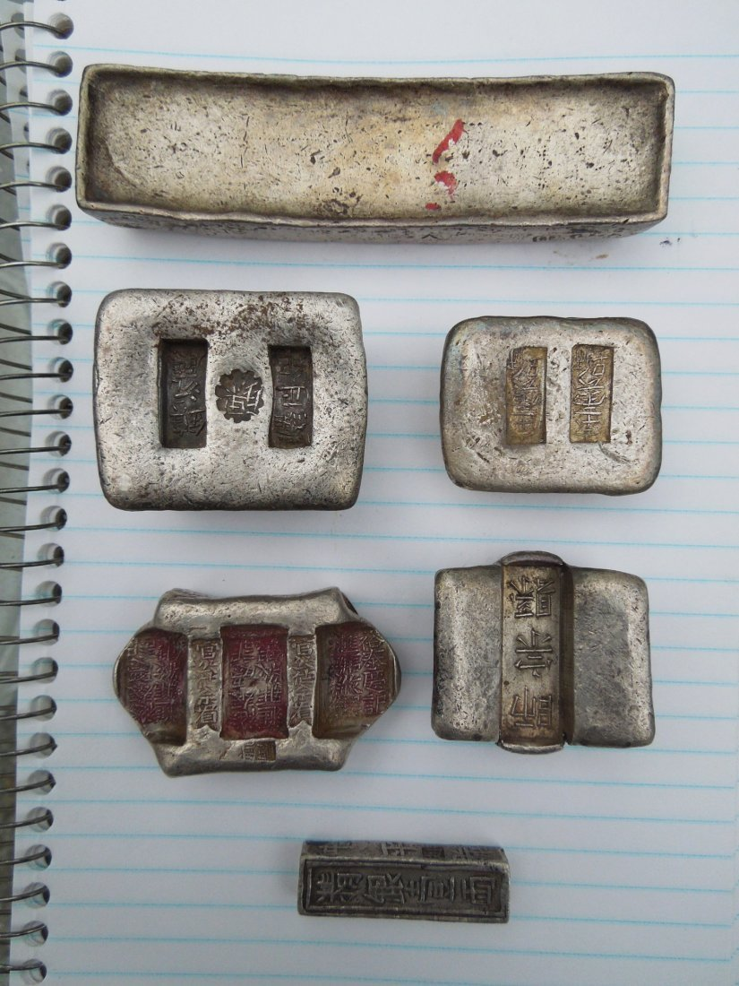 Group of Chinese Silver Ingots and Objects. - 2