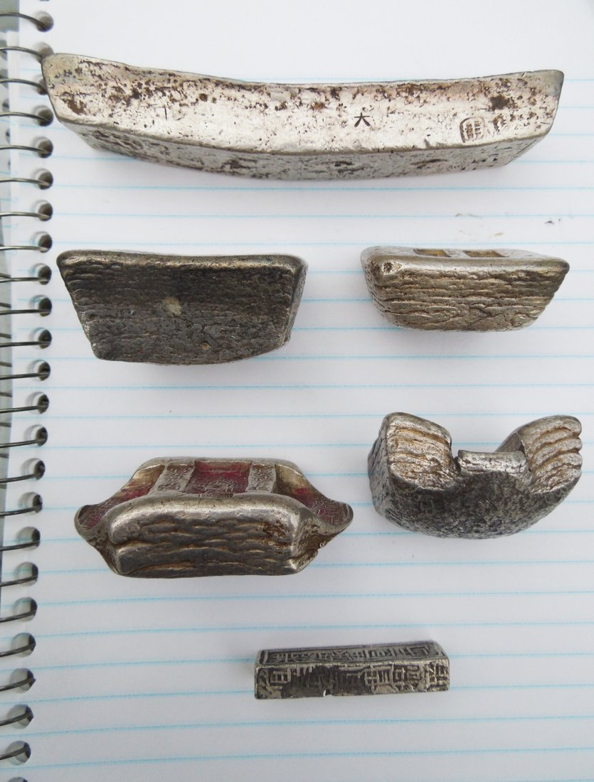 Group of Chinese Silver Ingots and Objects. - 3