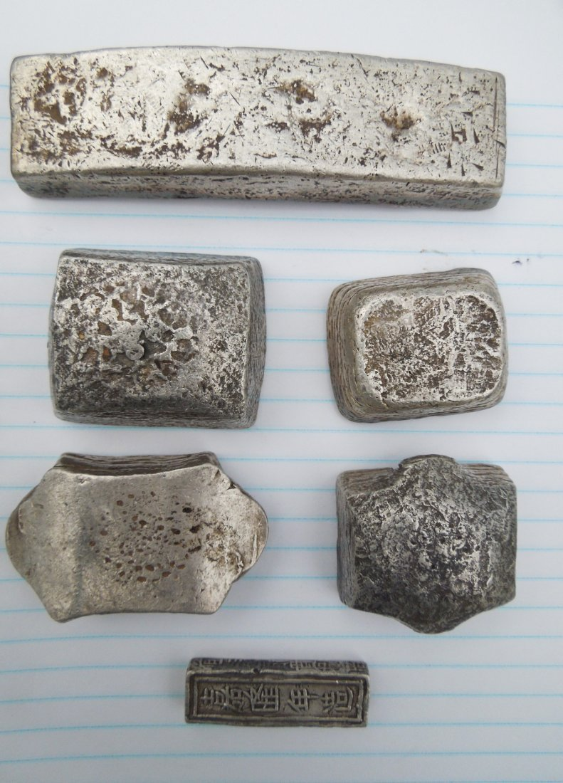 Group of Chinese Silver Ingots and Objects. - 4