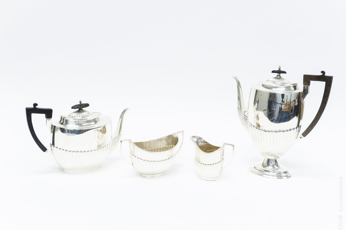 Sheffield Sterling Coffee & Tea Set.
