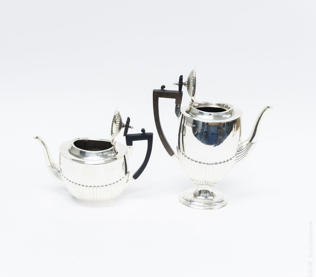 Sheffield Sterling Coffee & Tea Set. - 2