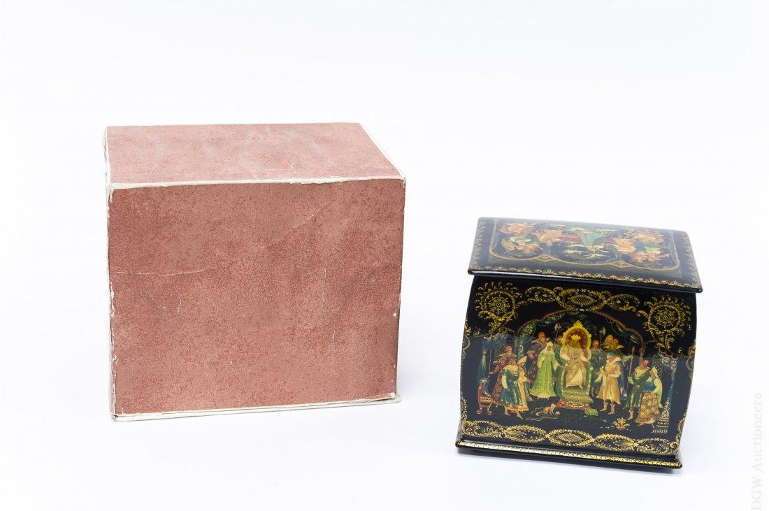 Khokhlova Palekh Russian Lacquer Box. - 10