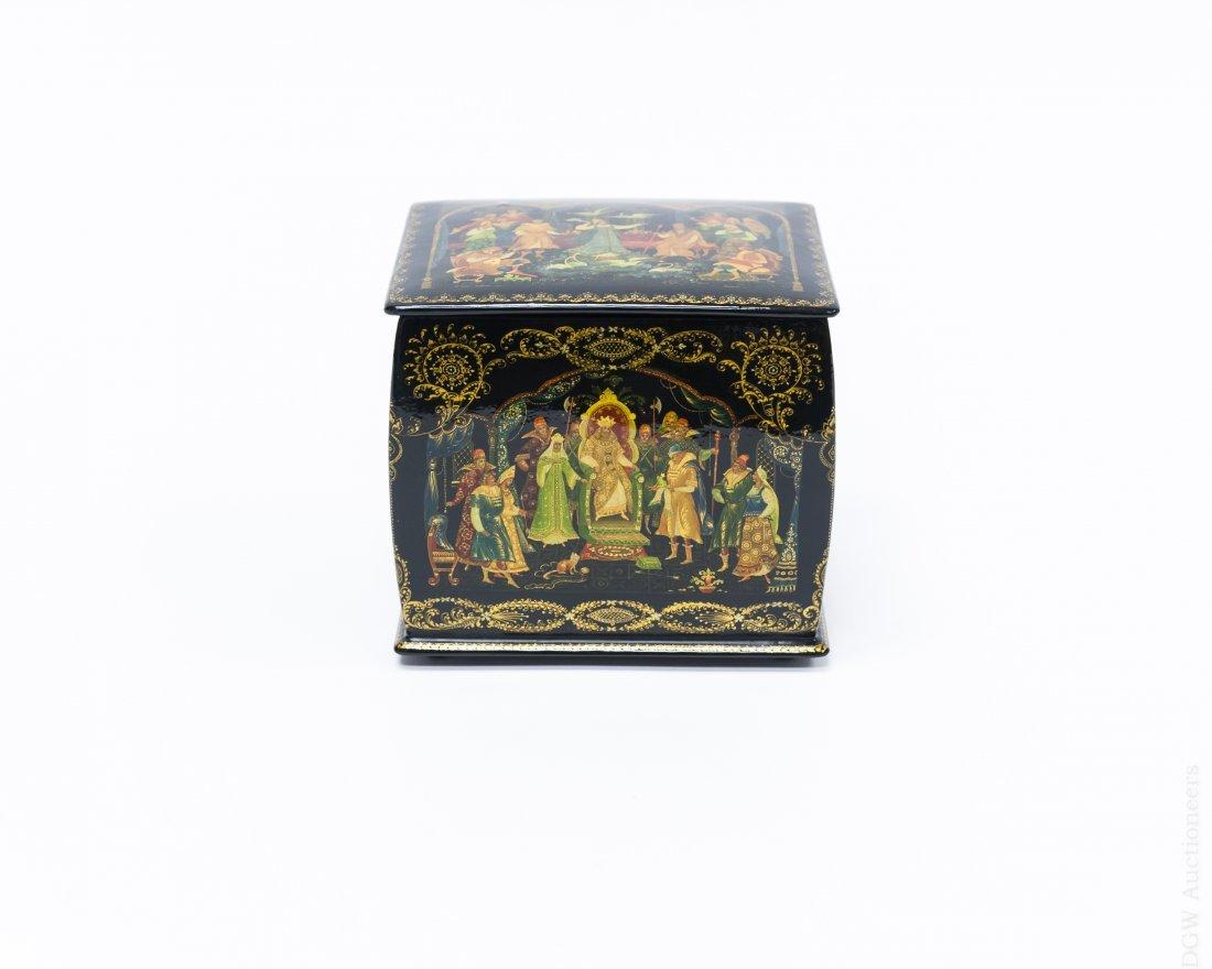 Khokhlova Palekh Russian Lacquer Box.
