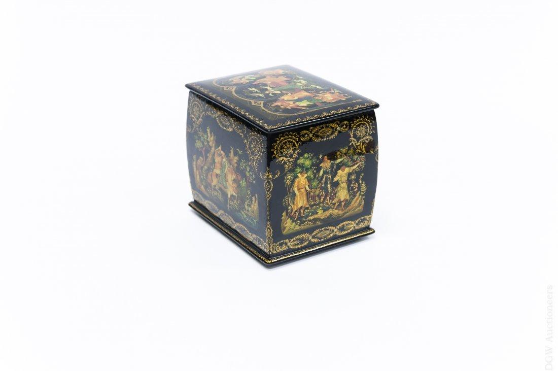 Khokhlova Palekh Russian Lacquer Box. - 2