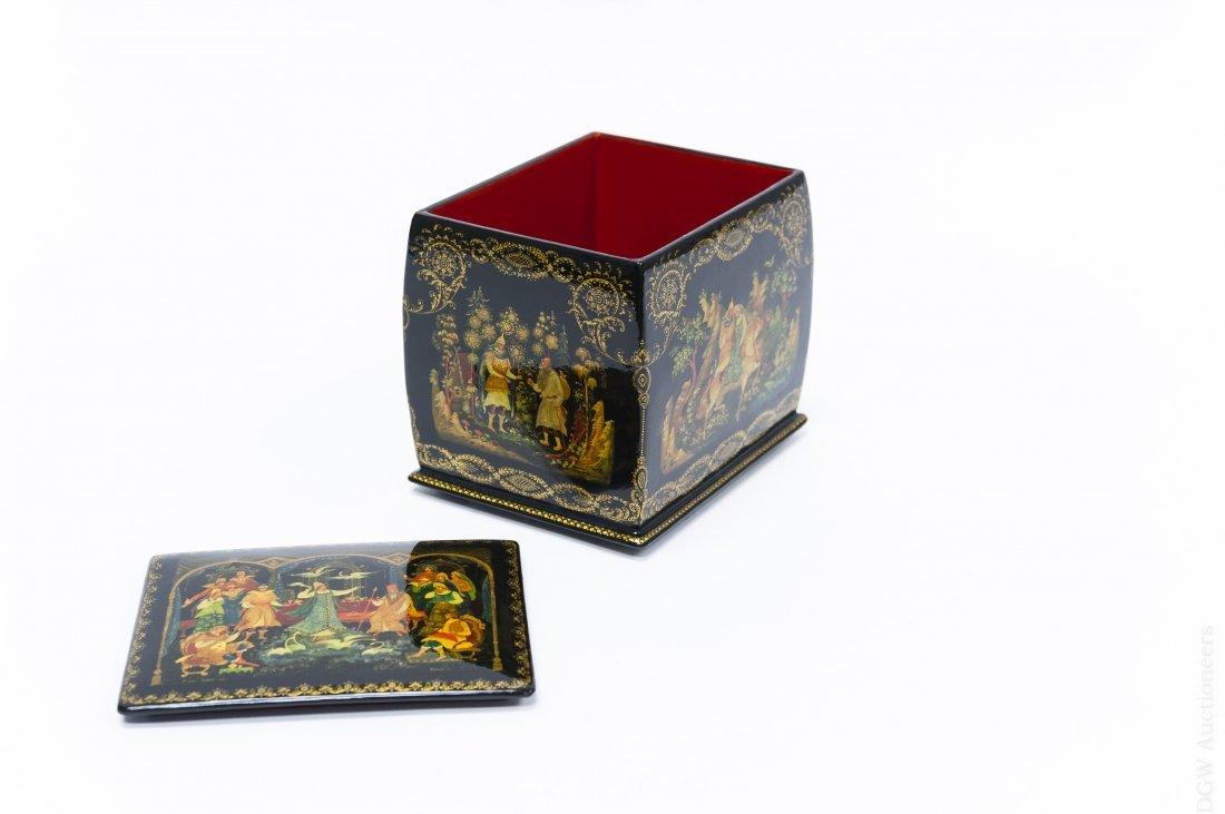 Khokhlova Palekh Russian Lacquer Box. - 3