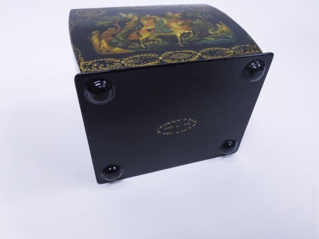 Khokhlova Palekh Russian Lacquer Box. - 5