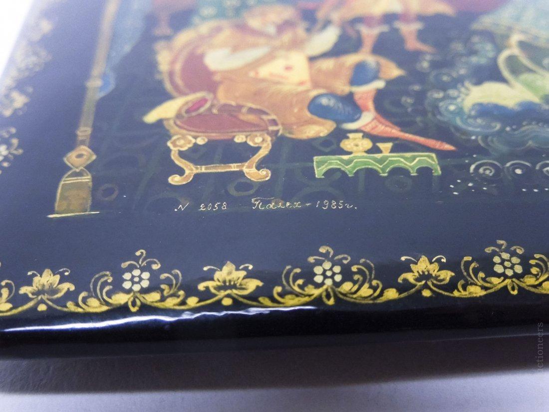 Khokhlova Palekh Russian Lacquer Box. - 7