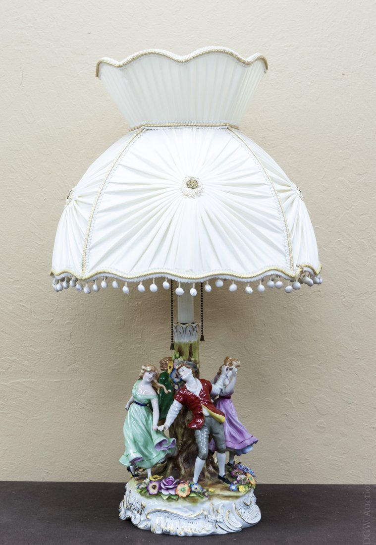 Continental Porcelain Figural Table Lamp.