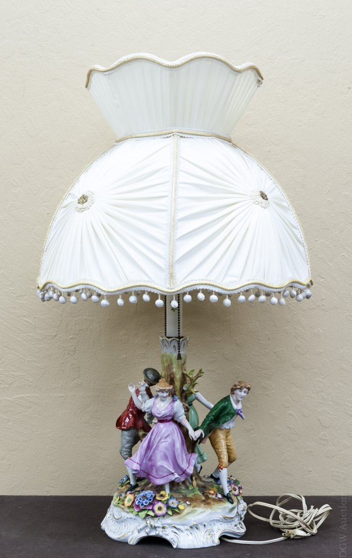 Continental Porcelain Figural Table Lamp. - 2