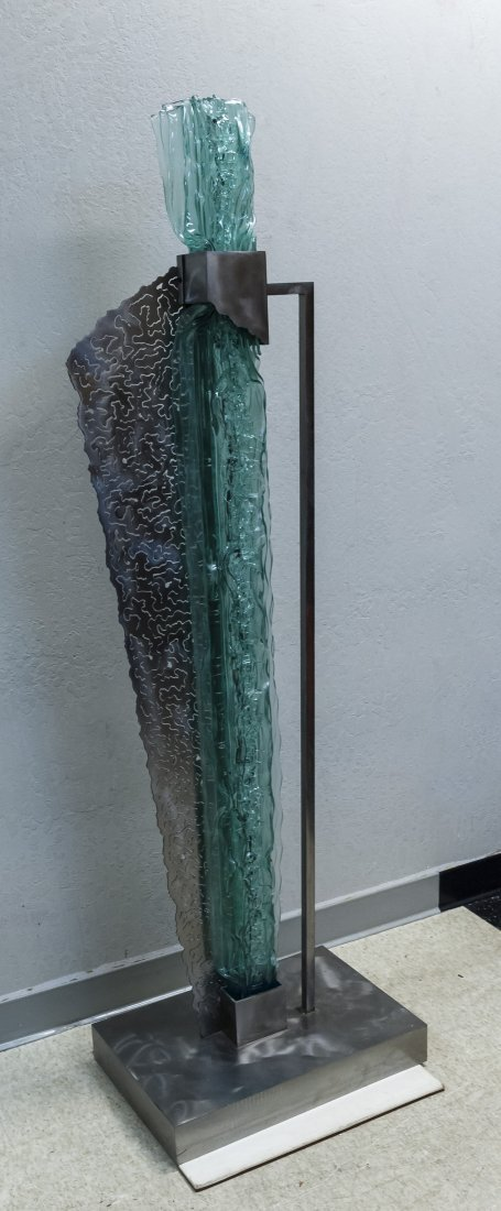 Nancy Mee Molded Glass Abstract Sculpture. - 3