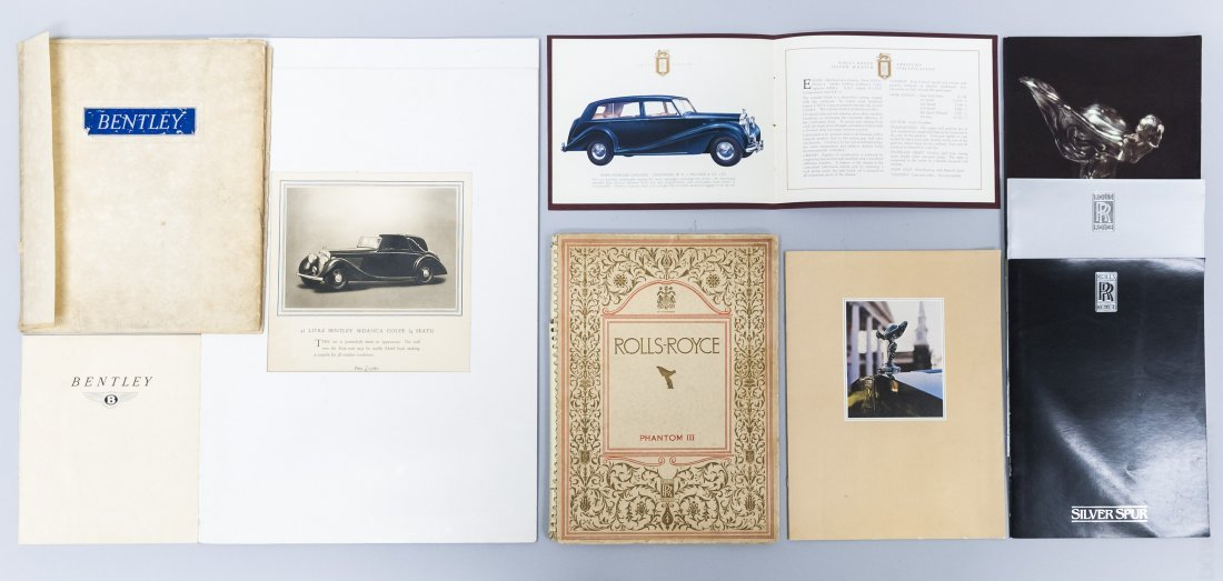 Collection of Rolls Royce & Bentley Brochures.