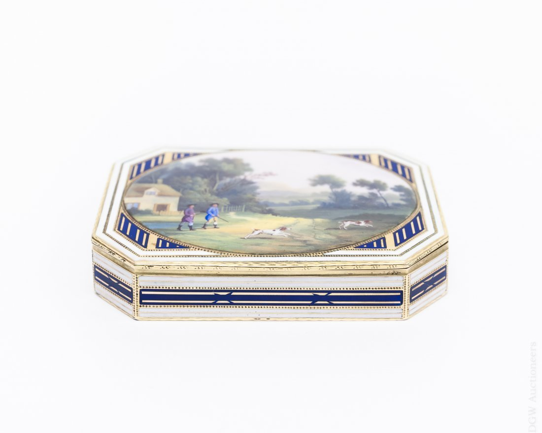 German Gold and Enamel Snuff Box.