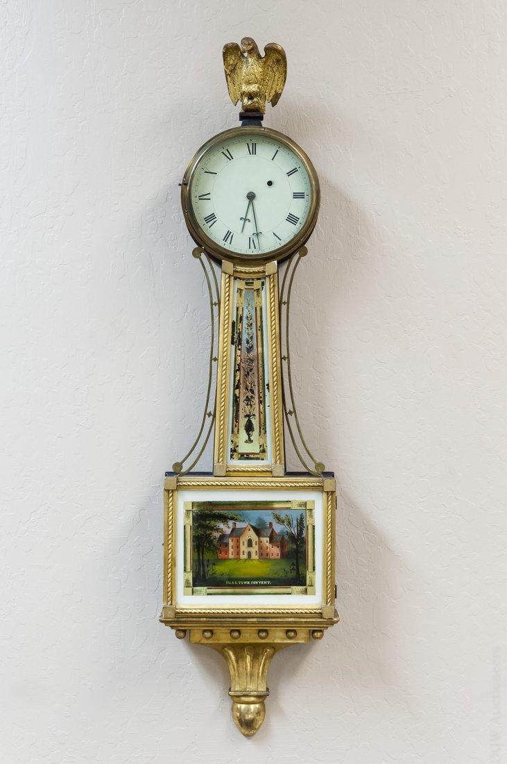 Federal Mahogany Banjo Clock.