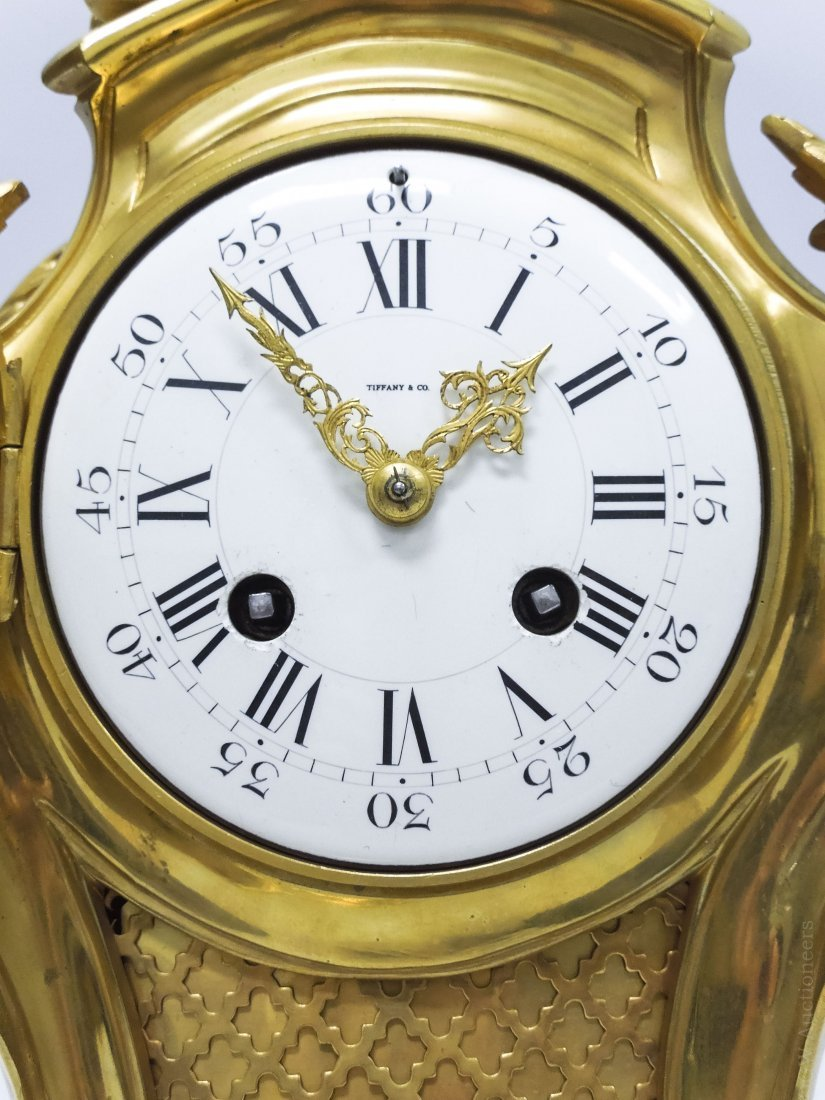 Tiffany & Co. Gilt Bronze Mantel Clock. - 10