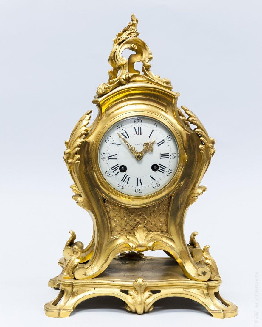 Tiffany & Co. Gilt Bronze Mantel Clock.
