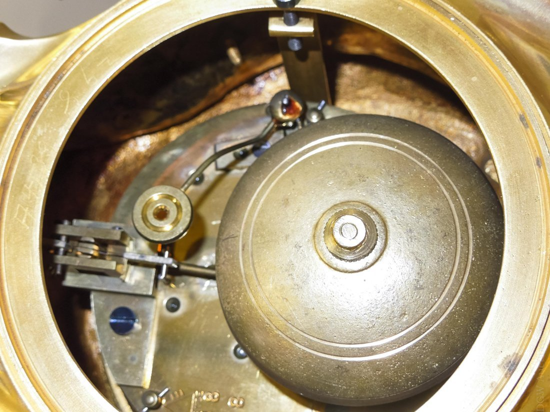 Tiffany & Co. Gilt Bronze Mantel Clock. - 5