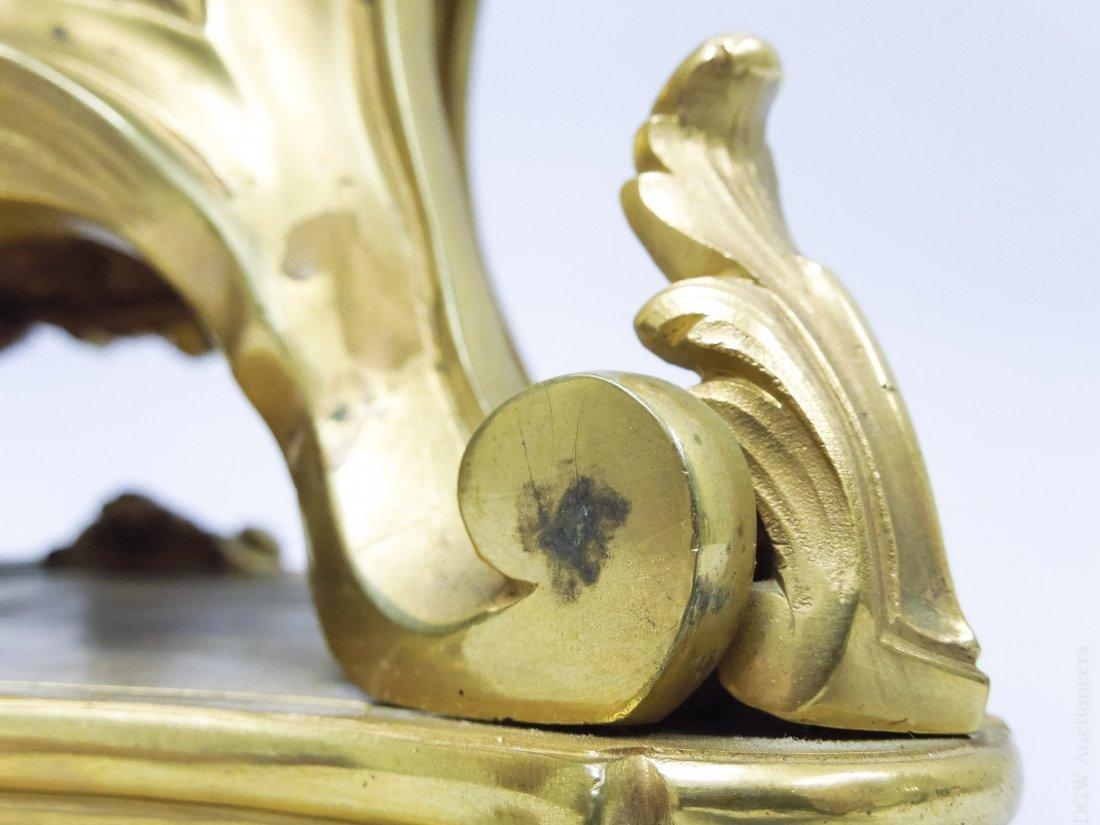 Tiffany & Co. Gilt Bronze Mantel Clock. - 9